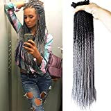 Flyteng 6Packs 24Inch 30Stands/Pack Omber senegalese twist hair Synthetic Mambo Twist Hair Extension Crochet braids Braiding Hair