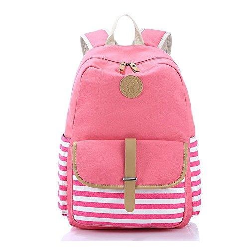 (Abshoo Causal Travel Canvas Rucksack Backpacks for Girls School BookBags)