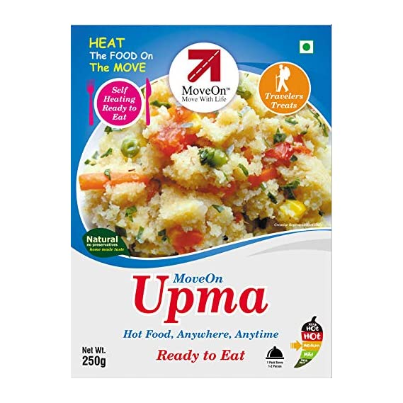 Move On Ready to Eat Instant Upma (500Grams) - Pack of 2