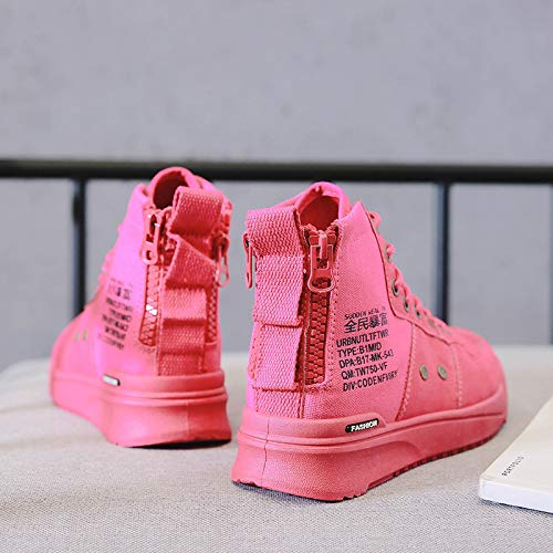 Red Botas Versátiles De Boots Calzado Ayudar Para Martin Alto Otoño Invierno E Shukun Mujer Botines Casual R4aZWqwaA