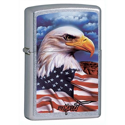 Personalized Message Engraved Customized American Eagle Bald Flag Patriotic Part2 Zippo Indoor Outdoor Windproof Lighter (Style33)
