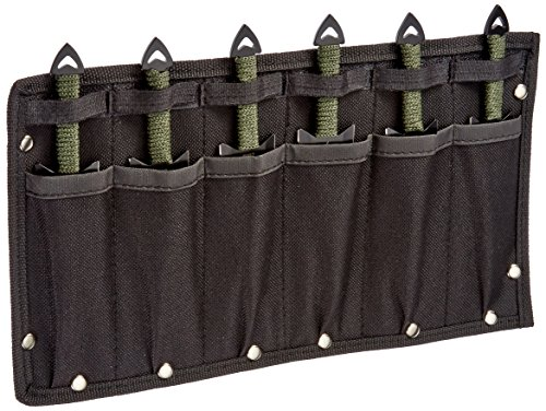 Perfect Point RC-040-6 Throwing Knife Set with Six Knives, Black Blades, Cord-Wrapped Handles, 6-1/2-Inch (Cord Wrapped Throwing Knives)