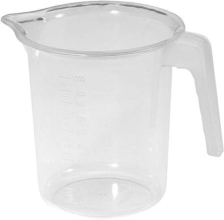 1 Litre Plastic Jug Measuring Water Juice Baking Weighing Cooking Bath