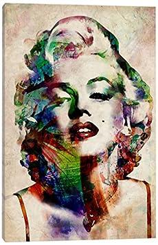 iCanvasART Watercolor Marilyn Monroe Canvas Print, 12' x 8' 12 x 8 8883-1PC3-12x8