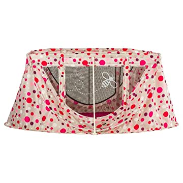 Parentlab JourneyBee Portable Crib (Pink Polka Dots)