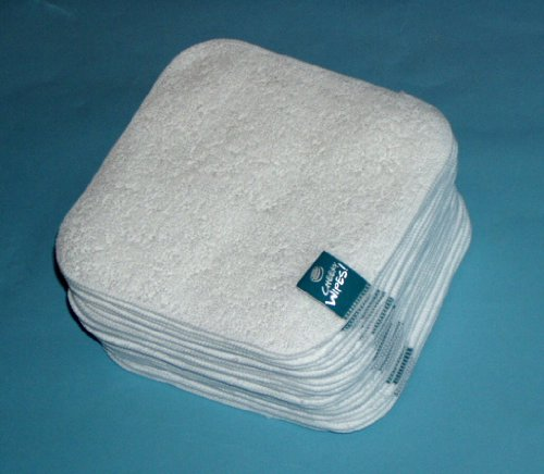 Cheeky Wipes 25 White Terry Towelling Wipes