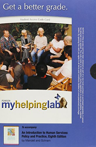 MyHelpingLab without Pearson eText -- Standalone Access Card -- forAn Introduction to Human Services: Policy and Practic