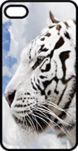 White Tiger Side View Tinted Rubber Case for Apple iPhone 4 or iPhone 4s