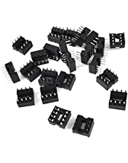 uxcell 25pcs 2.54mm Pitch Through Hole 8 Pins Dip IC Socket PCB Board Adapter
