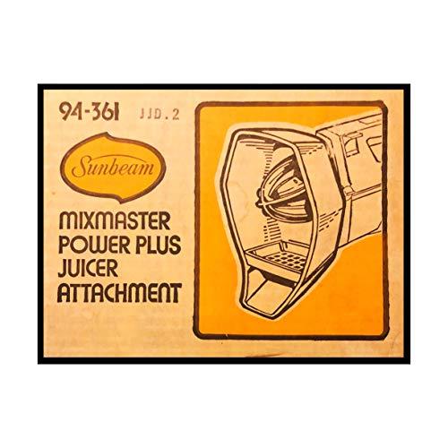 - Sunbeam Mixmaster Mixer Power Plus Juicer Attachment #94-361