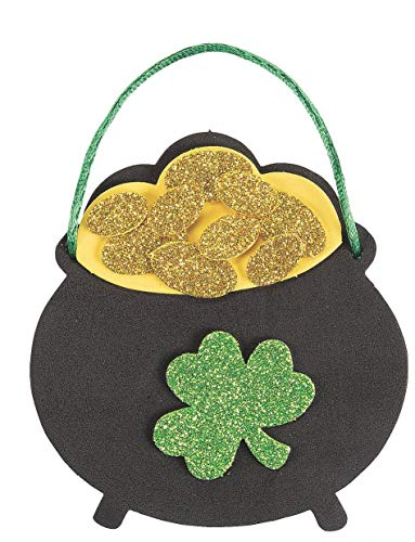 12 Pot of Gold Ornament Craft Kits – St Patrick's Day Crafts for Kids