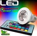 Techno Earth 3W E27 16 Color 80LM LED RGB Magic Light Bulb Lamp with Wireless Remote Control