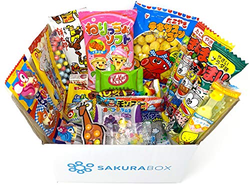 Sakura Box – Dagashi Sets Japanese Candy Chocolate Snacks Sweets (Sampler)
