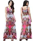 LemonGirl V-Neck Full Color Printing Long Hem Dress - Best Reviews Guide