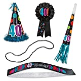 Birthday Cheer 40th Birthday Party Accessories Kit, 5pc