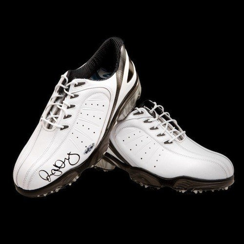 RORY McIlroy Hand Signed White FootJoy Golf Shoes UDA
