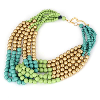 [Sista Jewelry] Specialty Multicolour Multicolor Beads Alloy Fashion Necklaces