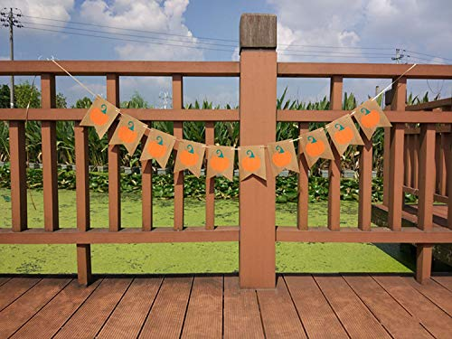 KEZAY Halloween Pumpkin Banner Thanksgiving Day Pumpkin Bunting Garland for Home Decor Party Festival Decoration