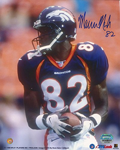 Marcus Nash Signed Autographed Denver Broncos 8x10 Photo Mounted Memories COA Autographed 8x10 Coa Mounted Memories