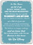 In This House We Do Disney Blue Metal Wall Sign Plaque Wall Art Inspirational