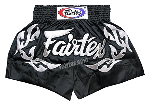 "FAIRTEX SHORTS LIMITED COLLECTION ETERNAL FLAME SILVER BLACK.""MEDIUM"""