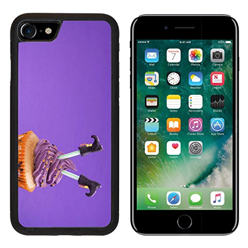 [Luxlady Premium Apple iPhone 7 Aluminum Backplate Bumper Snap Case iPhone7 IMAGE ID: 22167569 Halloween cupcake with witch] (Easy Decorated Halloween Cupcakes)