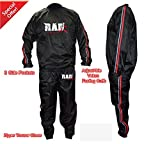 Heavy Duty RAD Sweat Suit Sauna Exercise Gym Suit Fitness Weight Loss Anti-Rip Red (6XL)