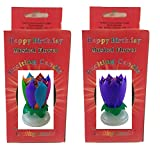 Neat Birthday Candle Exciting Birthday Candle 2 Pack (Rainbow and Purple)