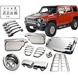 Exterior Moulding Trim Cover Fits 2006-2010 HUMMER H3 | Chrome Added On Bodykit by IKON MOTORSPORTS | 2007 2008 2009