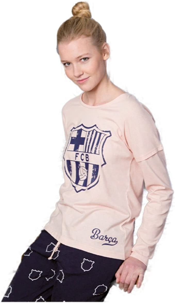 TALLA XXL. Pijama Mujer FC Barcelona Oficial 2017-2018