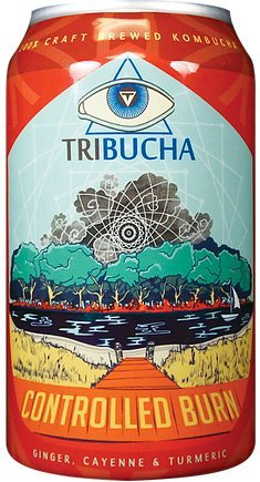 Tribucha, Kombucha Tea Controlled Burn, 12 Fl Oz