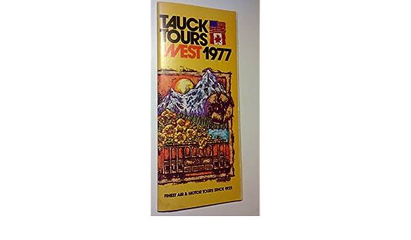 Amazon com: Vintage Original 1977 Tauck Tours West - Pacific