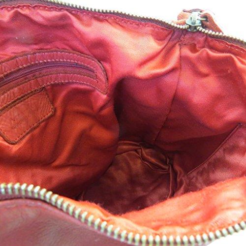 Vendimia De Gianni La Rojos Cuero p2991 Conti 31x25x16 Cm Bolsa qRPR0vS