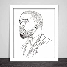 Kanye West Yeezus 11x17 Art Poster // Yeezy pablo Tour