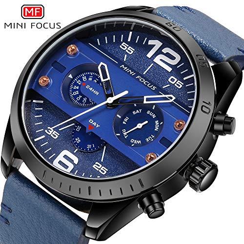 MF Mini FOCUS Men Quartz Business Waterproof Casual Analog Wrist Watch Men Sport Watch with Date and Week Display