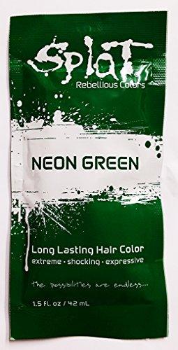 neon green hair dye permanent - 7