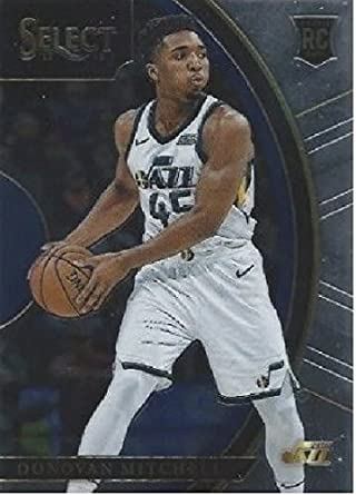 2017-18 Panini Select #11 Donovan Mitchell Utah Jazz Rookie Basketball Card