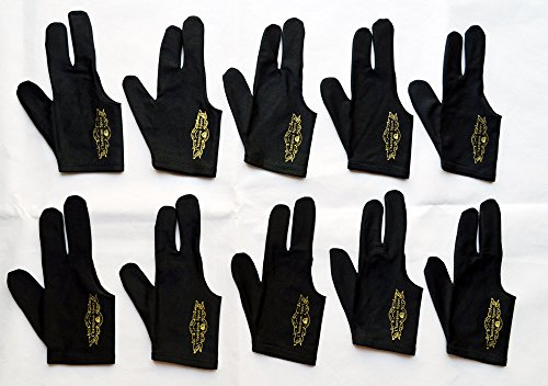 10 Champion Sport Black Pool Glove Right Handed (10 Gloves Per Package),get One Free Glove, Retail Price: $29.00