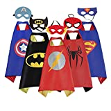 Mizzuco Cartoon Dress up Satin Cape with Felt Mask Costume - 5pcs