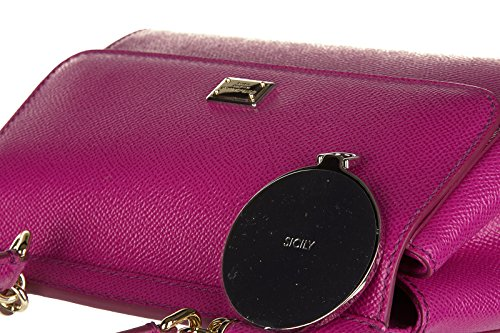Dolce&Gabbana borsa donna a mano shopping in pelle nuova sicily dauphine fucsia