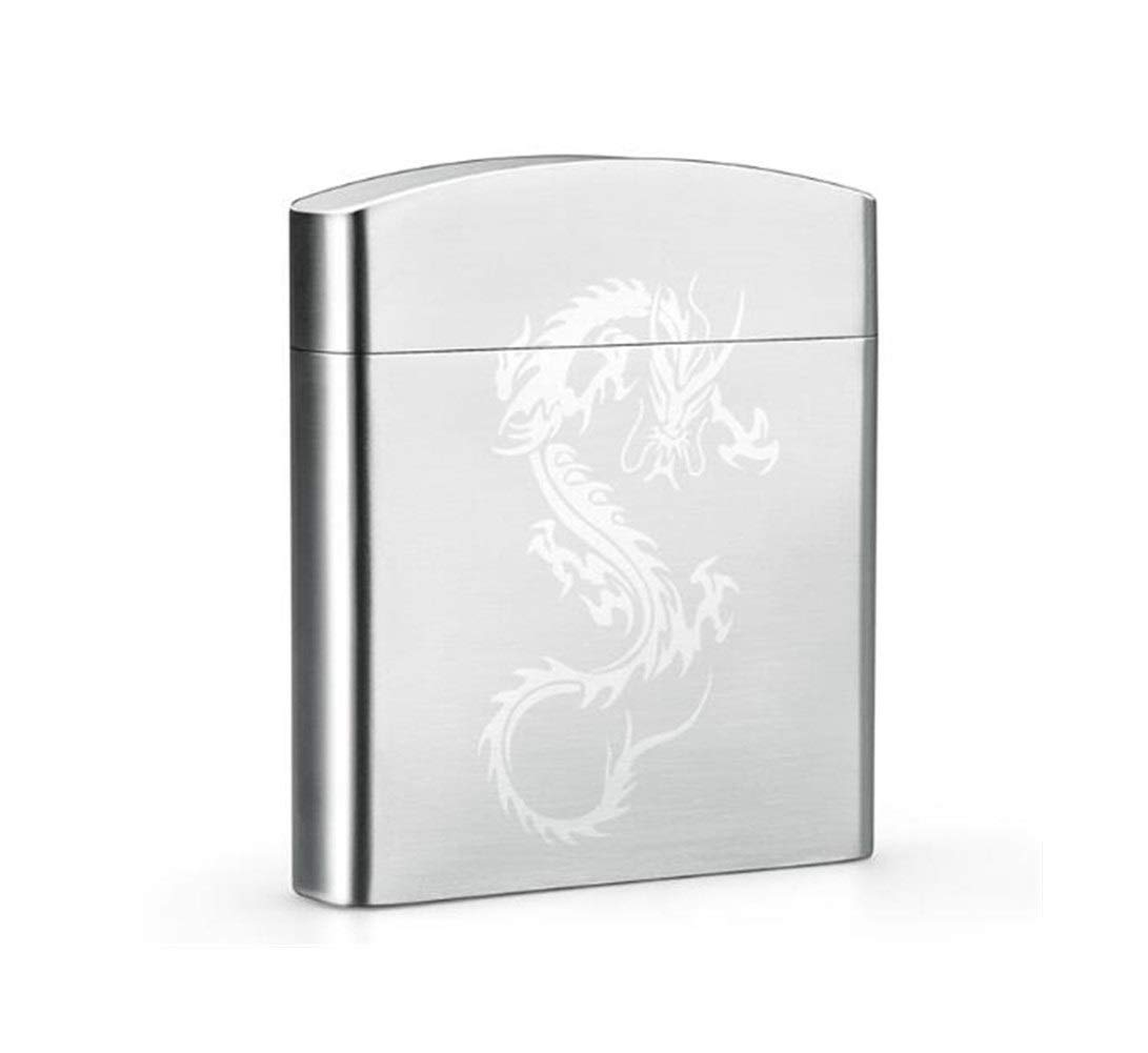 Cigarette Box, Stainless Steel 20 Metal Cigarette Case Ultra-thin Flip Cigarette Box, The Most Beautiful Gift For Valentine's Day, Silver 1.78.29.3cm ( Color : Silver1 , Size : 1.78.29.3cm )