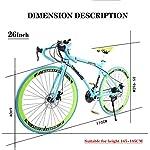 JXH-Strada-Biciclette-24-velocit-26-Bici-Pollici-Doppio-Disco-Freno-Acciaio-al-Carbonio-Telaio-Strada-Biciclette-da-Corsa-per-Uomo-E-Donna-per-Soli-Adulti