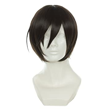 Cfalaicos Short Straight Yuu Otosaka Brown Wig Charlotte Heat Resistant Synthetic Hair Anime Cosplay Wig Cos