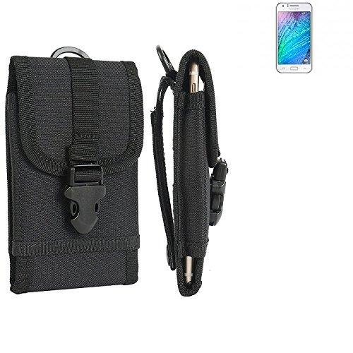 bolsa del cinturón / funda para Samsung Galaxy J1, negro | caja del teléfono cubierta protectora bolso - K-S-Trade (TM)