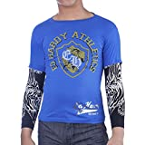 Ed Hardy Kids Long Sleeve Athletics T-Shirt -Blue - Small