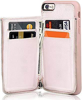brand new 3bcdf ee729 LAMEEKU iPhone 6 Wallet Case, iPhone 6s Leather Case, Shockproof iPhone 6  Card Holder Cases with Credit Card Slot Zipper Wallet Purse Money Pockets,  ...