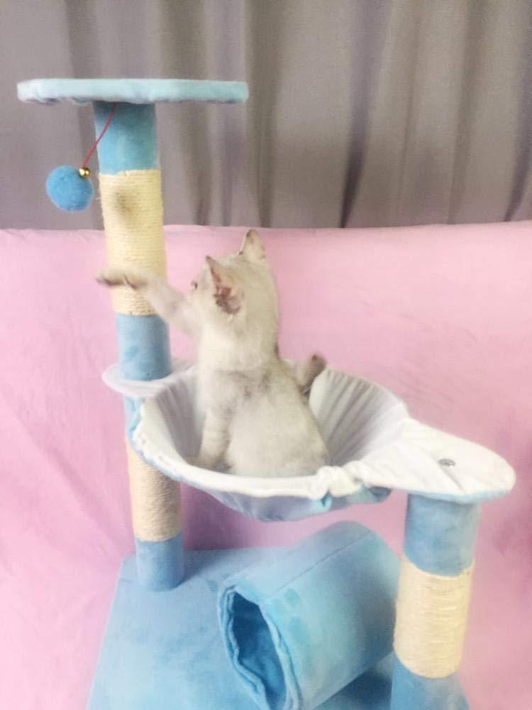 bluee Weiwei Cat climb frame cat jumping cat litter cat tree cat grab pillar 45cm 37cm  71cm