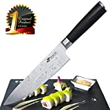 [Premium] Chef Knife German HC Steel | Professional 8 inch Kitchen Chefs Knife Set | Durable Stainless Steel Sharp Blade with Sturdy Pakka Wood Handle in Magnetic Gift Box