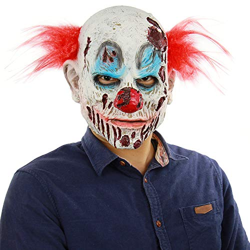 Halloween Costumes Stores In Ri (The Scary and Sinister Clown Latex mask Halloween Party Role Plays The Lifelike)