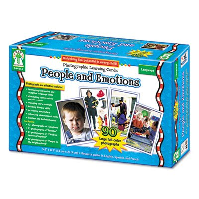 - Photographic Learning Cards Boxed Set, People and Emotions, Grades K-12, Sold as 1 Set